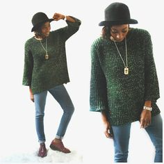 Enamorada de los sweaters extra large #fashion #style #outfitoftheday #oodt #trendy #hat