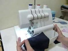 Como funciona la overlock Sewing Basics, Sewing Hacks, Sewing Tutorials, Sewing Projects, Sewing Patterns, Techniques Couture, Sewing Techniques, Janome, Overlock Singer