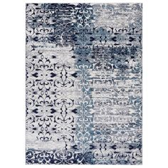 Home Depot: Jasmin Collection Floral Ivory/Navy 7 ft. 10 in. x 9 ft. 10 in. Area Rug #NavyRugs
