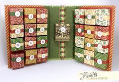 How to: Paper Advent Calendar Featuring Winter Wonderland By Magda Cortez Product: Graphic 45 Collection: Winter Wonderland Advent Calendar Boxes, Homemade Advent Calendars, Advent Calenders, Christmas Calendar, Diy Calendar, Jewish Calendar, Chinese Calendar, Wall Calendars, Moon Calendar