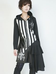 CDJapan : ASYMMETRY DESIGN CUT Shirt Parka (M) SB08341-10102 SEX POT ReVeNGE APPAREL