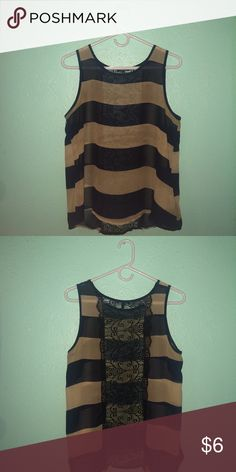 Tank top with lace back This tank top is extremely light AND extremely cute. It is a bit see-through, but it is still very cute. The back is also a beautiful lace pattern. Monteau Tops Tank Tops