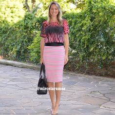 Look de trabalho - look do dia - look corporativo - moda no trabalho - work outfit - office outfit - spring outfit - look executiva - mix de estampas - mix and match - red - vermelho - listras - animal print
