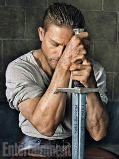 Charlie Hunnam in the EW photoshoot for King Arthur
