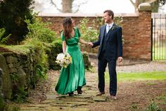 An Emerald Green, Vintage Dior Gown And Gold Jacket For an Intimate Family Wedding | Love My Dress® UK Wedding Blog