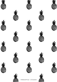 Pineapple Studio by Pi Weinberg #pineapple #pattern #print