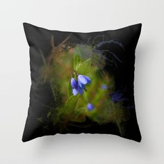 https://society6.com/product/pretty-bluebells-on-black_pillow?curator=hereswendy Throw Pillow Pretty bluebells on black by Wendy Townrow on Society6