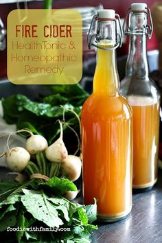 Holistic Health Remedies This classic folk Fire Cider Health Tonic and Homeopathic Remedy packs serious nutritional punch which tastes great and is seriously easy to make! Homeopathic Remedies, Health Remedies, Kombucha, Natural Medicine, Herbal Medicine, Sante Bio, Apple Cider Vinegar Remedies, Health Tonic, Cooking Ingredients