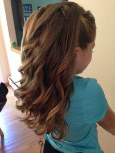 Half-up half-down curls/junior bridesmaid