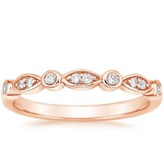14K Rose Gold Coronet Diamond Ring from Brilliant Earth