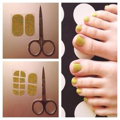Jamberry nails--how to use two stickers for an entire pedicure http://bejoyful.jamberrynails.net/