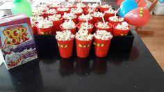 Ninjago traktatie Popcorn rode plastic bekers ninja ogen