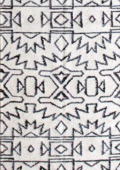 Akimbo 5 - B + W flatweave rug - 2.5'x7' in stock  - ESKAYEL