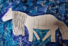 martin na bílém koni pracovní list Winter Art, Martini, Art For Kids, Tapestry, Artwork, Home Decor, Children, Autumn, Art For Toddlers