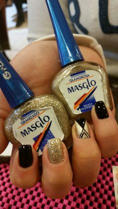 Masglo_oficial Love Nails, Pretty Nails, Manicure, Nail Designs, Hair Beauty, Nail Polish, Make Up, Nail Art, Diana