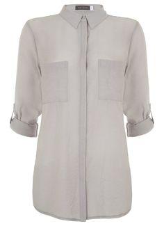 Dove Grey Slim Shirt