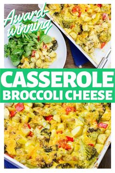 This vegetarian dish is packed with awesome veggies and cheese! It's award-winning and a crowd and family favorite. Mix up this meal, toss it in the oven, and enjoy a bubbly, creamy, comfort food dish that you'll want to make again and again. #vegetarian #broccoli #casserole #dinneridea #recipe #favoriterecipe #veggies Broccoli Cheese Casserole, Sweet Potato Casserole, Veggie Recipes, Vegetarian Recipes, Vegetarian Dish, Dinner Recipes, Vegetarian Zucchini Lasagna, Roast Broccoli And Cauliflower, Vegan Stuffed Peppers