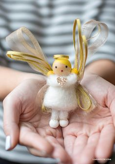 DIY angel  craft MichaelsMakers  Lia Griffith