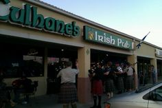 Culhane's Irish Pub in Atlantic Beach...Jacksonville was fantastic.  Some of us had the Guiness Stew, which was great.