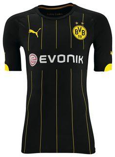 9d0a72a4a2b4f Dortmund Away 14 15 Uniformes Futebol
