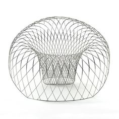 Reverb Wire Chair Australian designer Brodie Neill and Italian design manufacturer Marzorati Ronchetti have collaborated to produce the limited-edition Reverb Wire Chair. The design is based on the form of a geometric vortex – a wireframe network of handcrafted and mirror polished stainless steel rods that map out the expansive conical geometry of the chair.