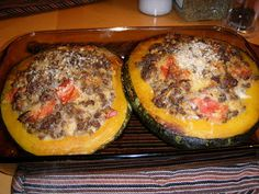"""So what are you making for dinner?"": Stuffed Buttercup Squash I made it without the beef and it was really really good! Everyone loved it! Fall Recipes, Beef Recipes, Cooking Recipes, Healthy Recipes, Recipies, Acorn Squash Recipes, Butternut Squash, Vegetarian Food, Eating Clean"