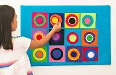 Easy Crafts For Kids, Projects For Kids, Art For Kids, Art Projects, Project Ideas, Kandinsky Art, Preschool Art Activities, Preschool Shapes, Art Tumblr