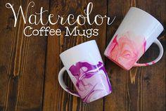 How to Make Fantastic DIY Watercolor Coffee Mug