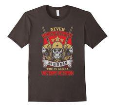 Men's Old Man and Vietnam Veteran Military T Shirt 2XL Asphalt