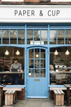 cafe in . Photo by grungeee cafe in . Photo by gru Cute Coffee Shop, Best Coffee Shop, Coffee Shop Design, Cafe Design, Cafe Restaurant, Restaurant Design, London Coffee Shop, Coffee Shops, Coffe Bar