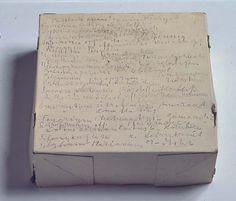 Cardboard box and graphite