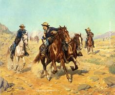 Charles Schreyvogel Saving Their Lieutenant, painting Authorized official website