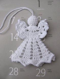 Items similar to crochet angel christmas decoration on etsy - Modern Crochet Christmas Decorations, Crochet Ornaments, Christmas Crochet Patterns, Holiday Crochet, Crochet Snowflakes, Crochet Gifts, Diy Crochet, Tree Decorations, Crochet Angel Pattern