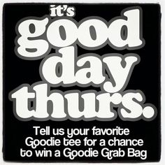 Head over to our FB page to enter!!     https://www.facebook.com/goodietwosleeves