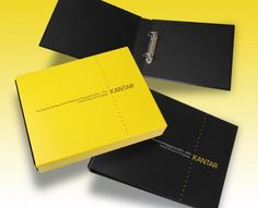 Kantar Bespoke Ring Binder and Slipcase - a creative packaging solution produced by Cedar Packaging Packaging Solutions, Ring Binder, Journal Notebook, Bespoke, Presentation, Skinny, Rings, Creative, Taylormade