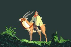 Studio Ghibli Goes Old-School in Awesome 8-Bit Tributes | Princess Mononoke, 1997.  Richard J. Evans  | WIRED.com