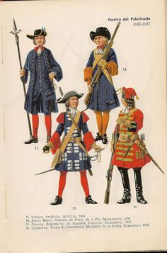 MINIATURAS MILITARES POR ALFONS CÀNOVAS: UNIFORMES MILITARES en color de todo el MUNDO de 1506 a 1965. ( POR PREBEN KANNIK ) Louis Xvi, Army Uniform, Military Uniforms, Army History, Ancient History, British Uniforms, Armor Clothing, Military Dresses, 18th Century Clothing