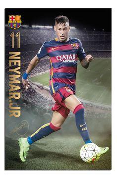 FC Barcelona Neymar 2015 / 16 Action Poster | iPosters