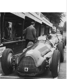 "The Exoto Alfa Romeo Alfetta 159 driven by Giuseppe ""Nino"" Farina to win the 1951 Grand Prix of Belgium."