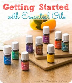 Getting Started with Essential Oils from The Real Food Enthusiast. #essentialoils