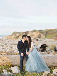 California Coast Engagement Photos with puppies via Magnolia Rouge Engagement Photo Outfits, Engagement Photo Inspiration, Engagement Pictures, Wedding Inspiration, Elegant Wedding Dress, Wedding Dresses, Blue Tulle Skirt, Maternity Photography Outdoors, Wedding Photography