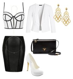 QuickFlash by vennessa-v on Polyvore featuring polyvore, fashion, style, Topshop, White House Black Market, Ally Fashion, Michael Antonio, Prada, Tory Burch and BCBGeneration
