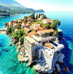 Just loved Sveti Stefan, Montenegro Places Around The World, Oh The Places You'll Go, Travel Around The World, Places To Travel, Travel Destinations, Places To Visit, Voyage Montenegro, Montenegro Travel, Places