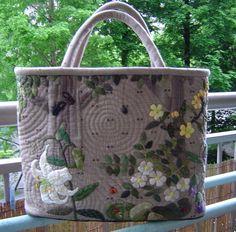 Applique patchwork fabrics, bag, master-class