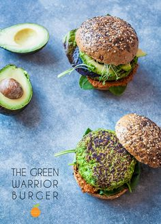 Say hello to the ultimate vegan green burger! A nutritious recipe for mega tasty veggie/vegan burger, full of green goodness, fresh herby flavours and 20 grams of protein per burger! The colour of these vegan green burger patties was achieved by combining fresh herbs and spinach, as well as beautiful green garden peas and butter beans.