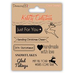 Dovecraft Krafty Christmas Clear Stamps – Sentiments DCXCS11
