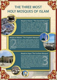 The Three Most holy Sites In Islam - These are being translated in to French and Spanish for world Distribution - Aimed and Muslim and non Muslims and A. 3 Most holy Sites In Islam Islam Religion, Islam Muslim, Islam Quran, Allah Islam, Masjid Al Haram, Islamic Inspirational Quotes, Religious Quotes, Islamic Quotes, Quran Quotes