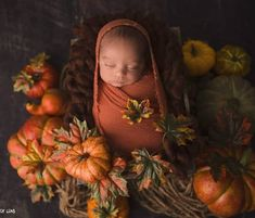 Newborn boy Photography ideas, pumpkin setup, orange wrap, creative wrapping, cocoon wrap,Mumbai newborn photographer