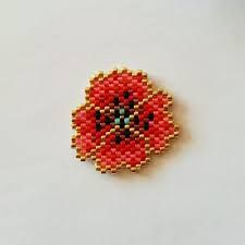 Image result for how to brick stitch flower