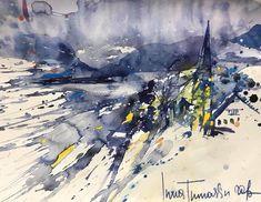 AquArell Winter, Painting, Design, Art, Watercolor, Painting Art, Winter Time, Art Background, Kunst